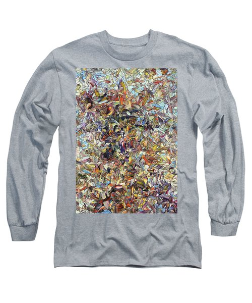 Long Sleeve T-Shirt featuring the painting Fragmented Horse by James W Johnson