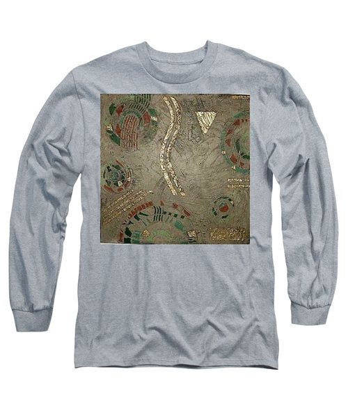 Long Sleeve T-Shirt featuring the painting Fragments From Atlantis by Bernard Goodman