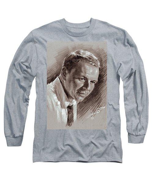 Frank Sinatra  Long Sleeve T-Shirt by Ylli Haruni