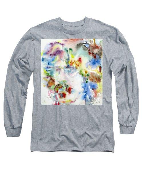 Frank Zappa - Watercolor Portrait.7 Long Sleeve T-Shirt