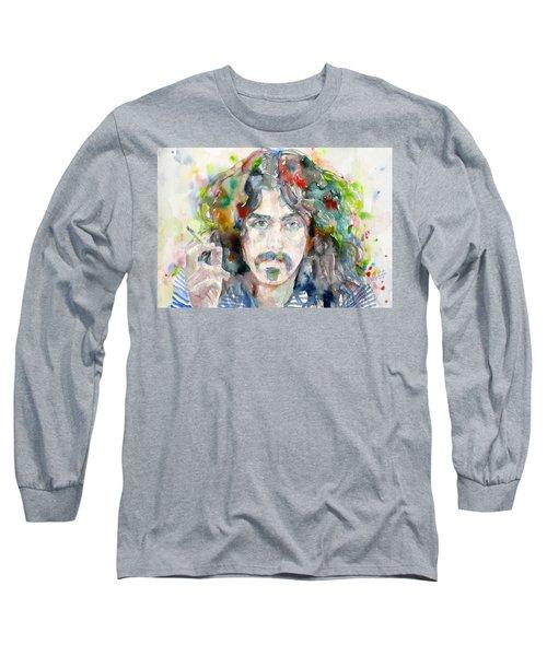 Frank Zappa - Watercolor Portrait.8 Long Sleeve T-Shirt
