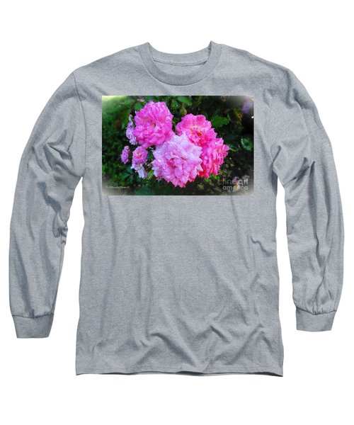Frank's Roses Long Sleeve T-Shirt by MaryLee Parker