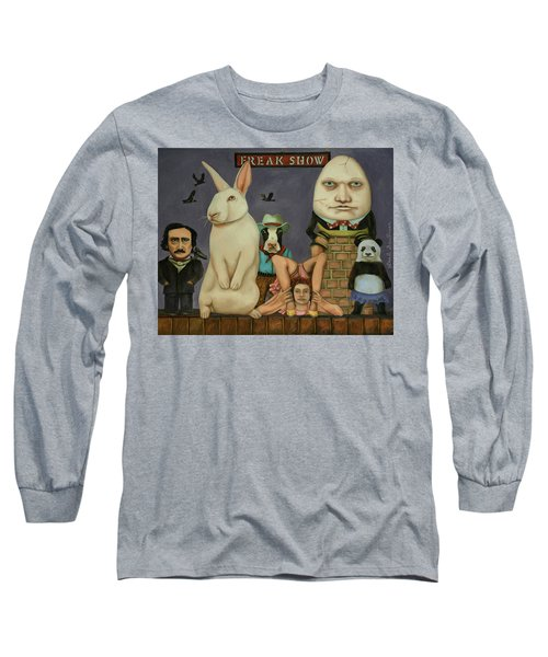 Long Sleeve T-Shirt featuring the painting Freak Show by Leah Saulnier The Painting Maniac