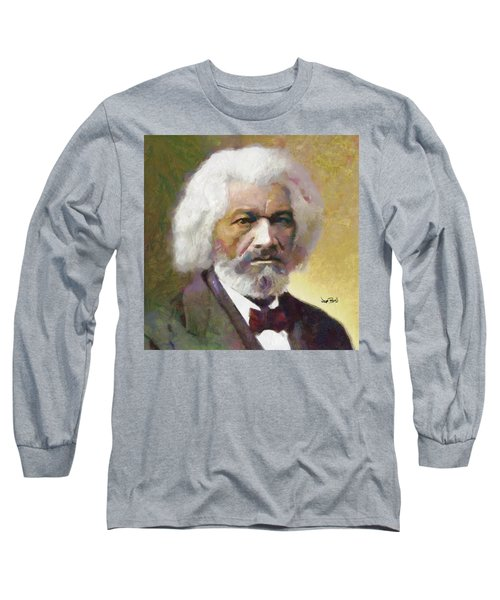Frederick Douglass Long Sleeve T-Shirt by Wayne Pascall