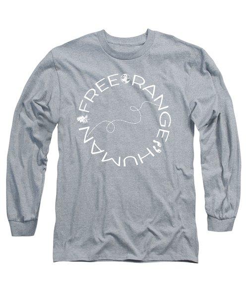 Free Range Human Circle Long Sleeve T-Shirt