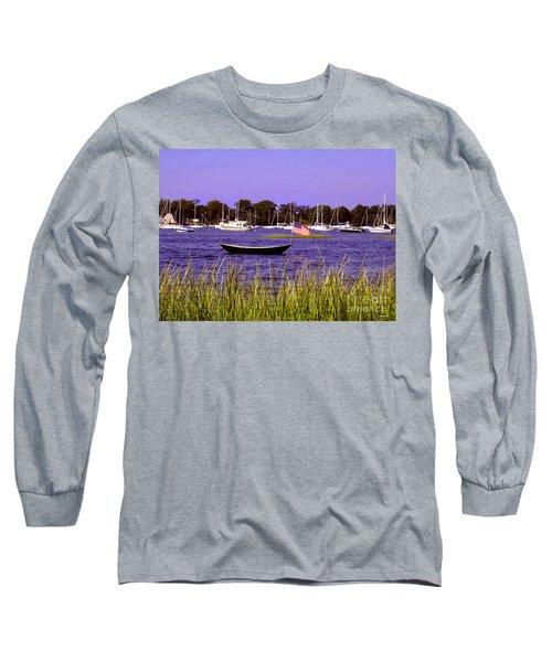 Freedom Bristol Harbor Rhode Island Long Sleeve T-Shirt by Tom Prendergast