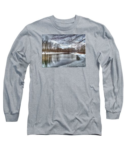 Freezing Up Long Sleeve T-Shirt by Betsy Zimmerli