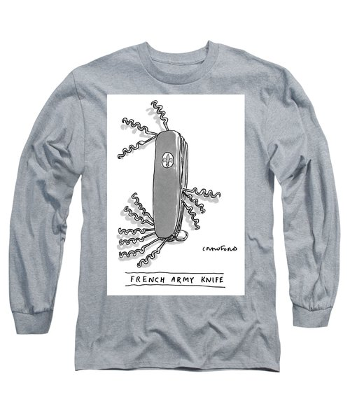 French Army Knife Long Sleeve T-Shirt