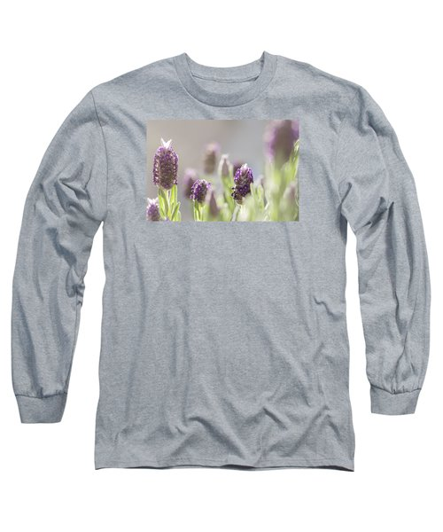 French Lavendar Buds Long Sleeve T-Shirt by Mary Angelini