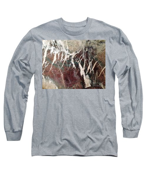 French Marble Long Sleeve T-Shirt by Therese Alcorn