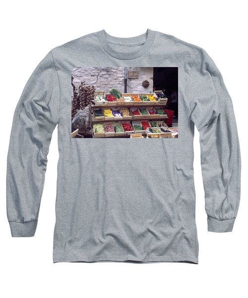 French Vegetable Stand Long Sleeve T-Shirt