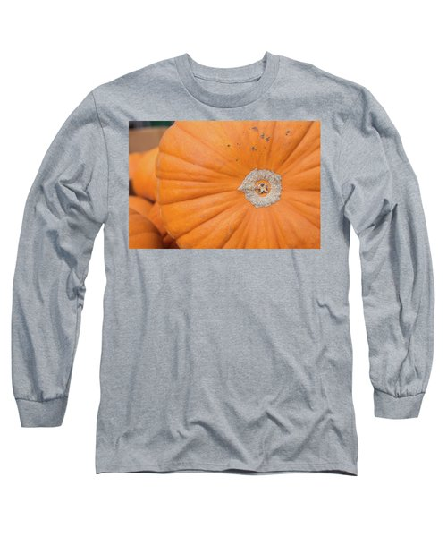 Fresh Organic Orange Giant Pumking Harvesting From Farm At Farme Long Sleeve T-Shirt by Jingjits Photography