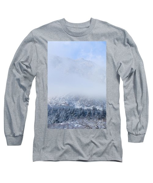 Fresh Snow In Cheyenne Mountain State Park Long Sleeve T-Shirt