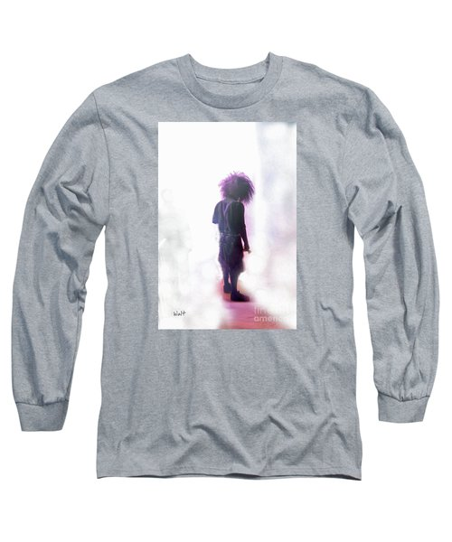 Long Sleeve T-Shirt featuring the digital art Frightdome Clown by Walter Chamberlain