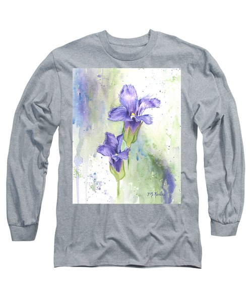 Fringed Gentian Long Sleeve T-Shirt