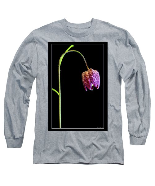 Fritillaria Meleagris, Snakes Head Fritillary Long Sleeve T-Shirt