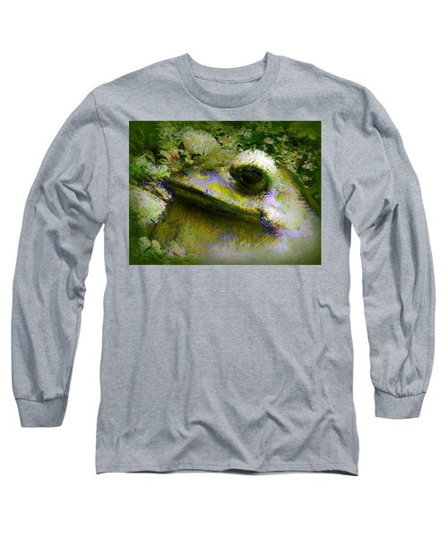 Long Sleeve T-Shirt featuring the photograph Frog In The Pond by Lori Seaman