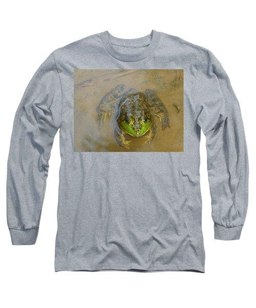 Frog Of Lake Redman Long Sleeve T-Shirt by Donald C Morgan