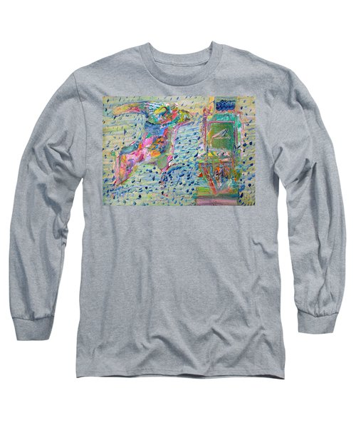 Long Sleeve T-Shirt featuring the painting From The Altered City by Fabrizio Cassetta