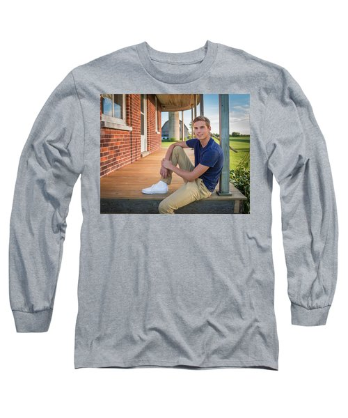 Long Sleeve T-Shirt featuring the photograph Front Porch Portrait by Bill Pevlor