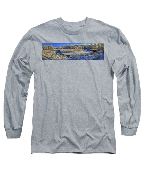 Frost Along The Creek - Panorama Long Sleeve T-Shirt
