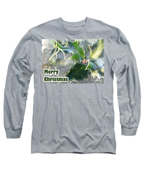 Long Sleeve T-Shirt featuring the photograph Frosty Holly by LemonArt Photography