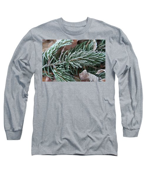 Frosty Pine Branch Long Sleeve T-Shirt