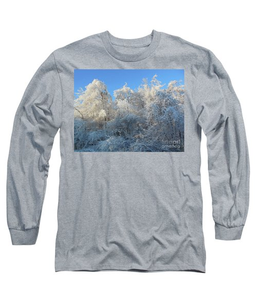 Long Sleeve T-Shirt featuring the photograph Frosty Trees by Rockin Docks Deluxephotos