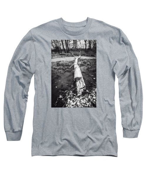 Long Sleeve T-Shirt featuring the photograph Frozen Landscape by Andy Crawford