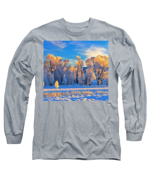 Frozen Sunrise Long Sleeve T-Shirt by Greg Norrell