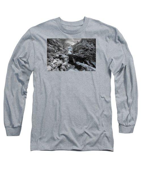 Frozen Water In Ammo Ravine Long Sleeve T-Shirt