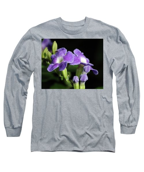 Long Sleeve T-Shirt featuring the photograph Fruit Fly On Golden Dewdrop by Richard Rizzo