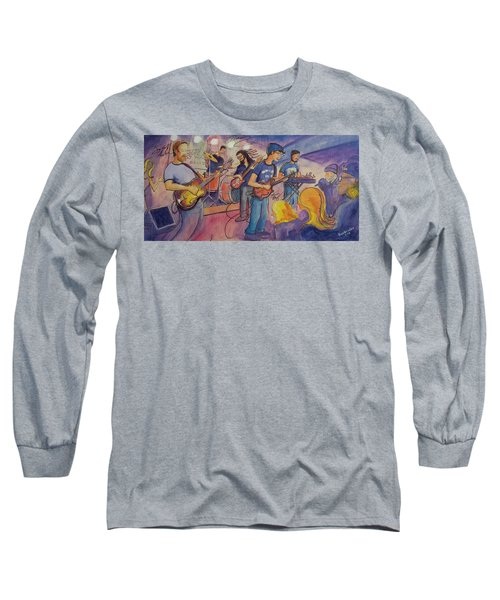 Long Sleeve T-Shirt featuring the painting Fruition At The Barkley Ballroom by David Sockrider