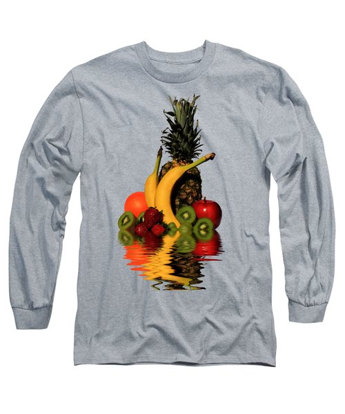 Fruity Reflections - Medium Long Sleeve T-Shirt by Shane Bechler