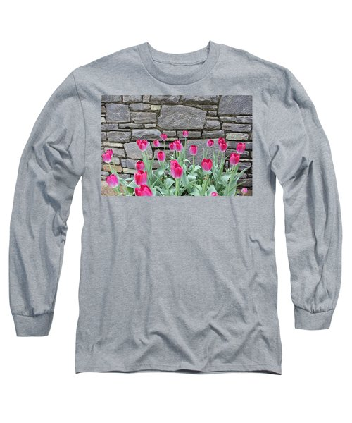 Fuchsia Color Tulips Long Sleeve T-Shirt