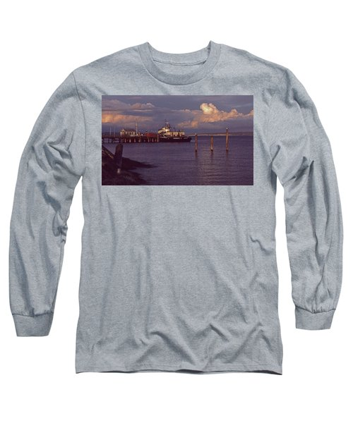 Long Sleeve T-Shirt featuring the photograph Fuel Dock, Port Townsend by Laurie Stewart