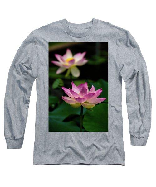Full Blooming Dual Lotus Lilies Long Sleeve T-Shirt
