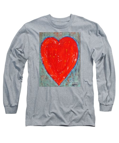 Long Sleeve T-Shirt featuring the painting Full Heart by Diana Bursztein