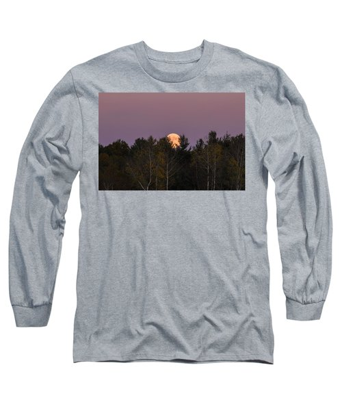 Full Moon Over Orchard Long Sleeve T-Shirt