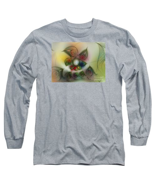 Long Sleeve T-Shirt featuring the digital art Fun With Gardening by Karin Kuhlmann