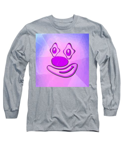 Funny Clown In The Pink Long Sleeve T-Shirt