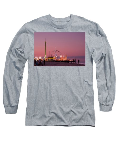 Funtown Pier At Sunset IIi - Jersey Shore Long Sleeve T-Shirt
