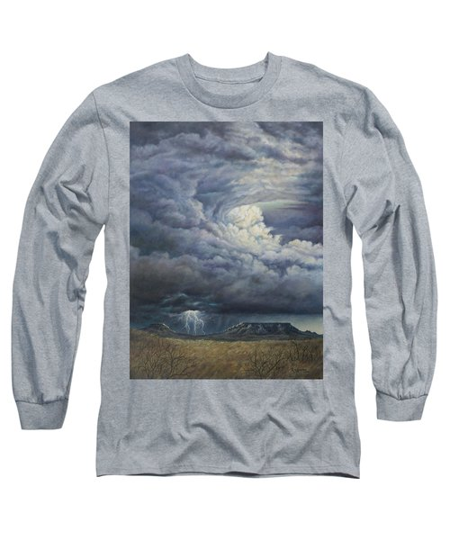 Fury Over Square Butte Long Sleeve T-Shirt by Kim Lockman