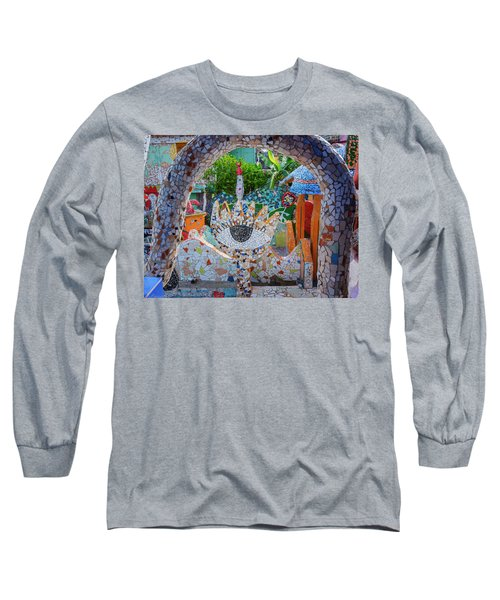 Long Sleeve T-Shirt featuring the photograph Fusterlandia Havana Cuba by Joan Carroll