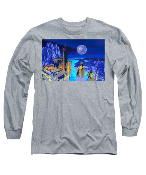 Futuristic City Long Sleeve T-Shirt
