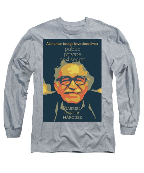 Gabriel Garcia Marquez Long Sleeve T-Shirt