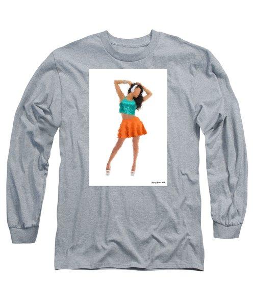 Long Sleeve T-Shirt featuring the digital art Gaby by Nancy Levan