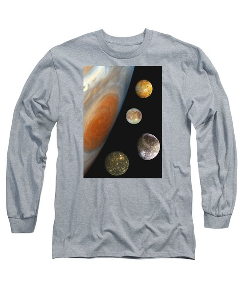Galilean Moons Of Jupiter Long Sleeve T-Shirt