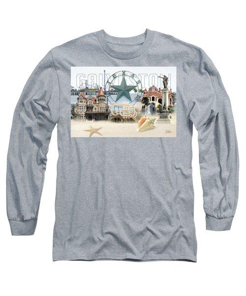 Galveston Texas Long Sleeve T-Shirt by Doug Kreuger