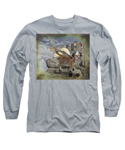 Long Sleeve T-Shirt featuring the digital art Game Of Bones by Rhonda Strickland